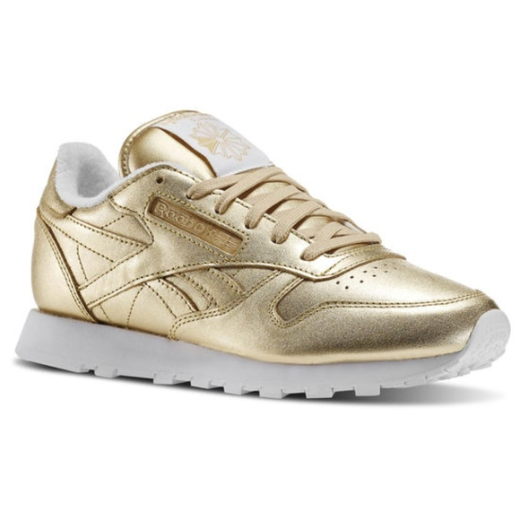 b0f44ea5ce4c79 Reebok x FACE Gold Leather Sneakers. M 5aa982ea6bf5a6754cf0483e. Other Shoes  ...